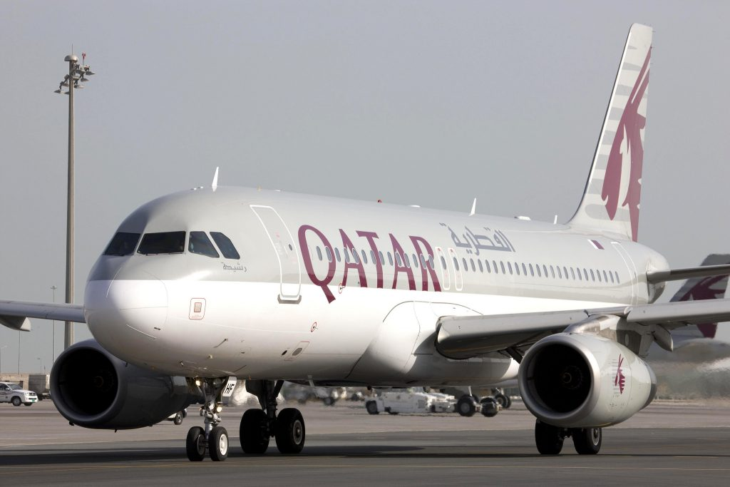 Qatar Airways A320.